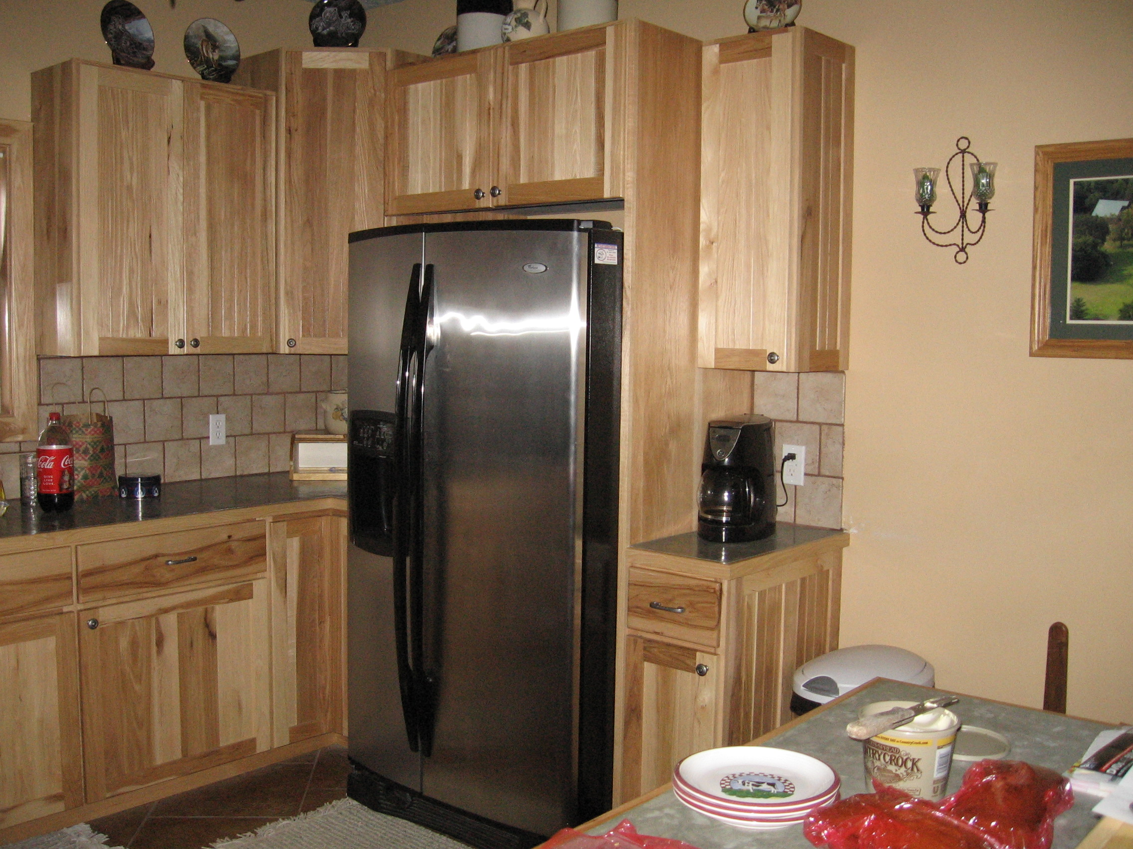 Franker Enterprises Inc Natural Hickory Kitchen Cabinets CLICK