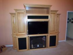 Highlight for Album: Maple Entertainment Center designed for Electric Fireplace and Flat Screen TV