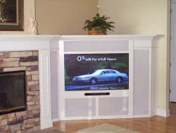 Highlight for Album: This unit was added to the existing fireplace.