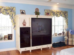 Highlight for Album: Antiqued White bedroom unit
