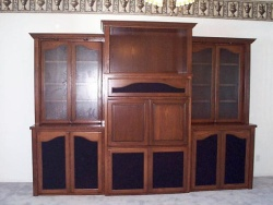 Highlight for Album: Really nice stained red oak wall unit