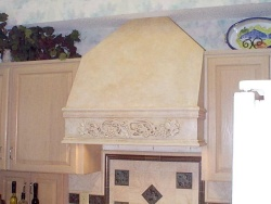 Highlight for Album: Venician plaster on a range hood cover