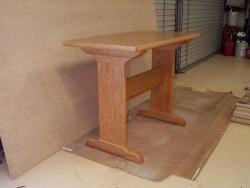 Highlight for Album: Natural Red Oak Trestel Table