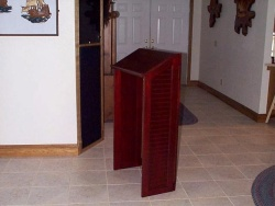 Highlight for Album: Talk in many places with this portable lectern