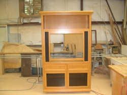 Highlight for Album: This oak cabinet was built to match 2 existing side pieces.