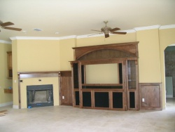 Highlight for Album: Black Walnut Wall in Family Room.