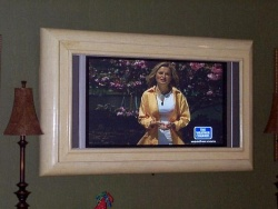 Tired of looking at YOURSELF?  How about a Plasma in that old mirror frame! -