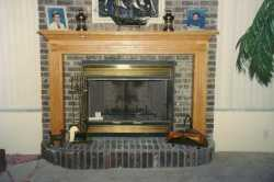 OAK MANTEL---------------CLICK ON THE PICTURE TO SEE MORE PICTURES WITHIN THIS ALBUM