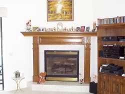 OAK MANTEL--------------------------------CLICK ON THE PICTURE TO SEE MORE PICTURES WITHIN THIS ALBUM
